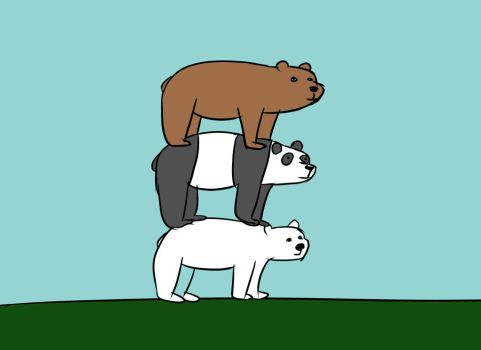 We Bare Bears by Pwnyville