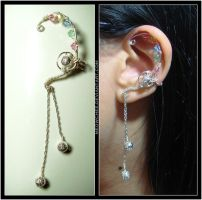 Elegant Curved Ear Cuff by Meowchee