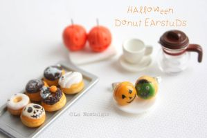 Halloween Donut Treats Earrings by LaNostalgie05