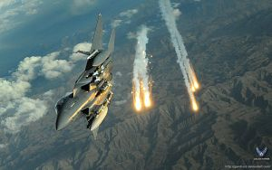 F-15E Strike Eagle from Bagram by gandiusz