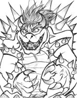 Bowser Fanart Sketch by ToughWeasel