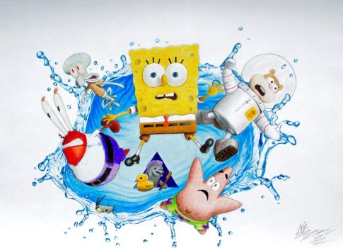 The SpongeBob Movie: Sponge Out of Water Drawing by SuperNikolai1996