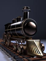 3D Model: Old Locomotive by ark4n