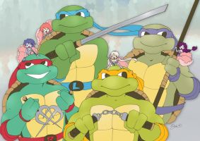 TMNT - Bellossoms: Awesome Foursomes by SimplyErika