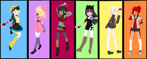 .:Pokemon OC Girls:. by alexpc901