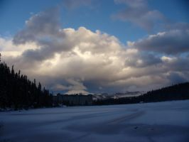 Bright Clouds over Lake Louise by dseomn