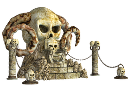 Spooky Skulls PNG Stock 02 by Roys-Art