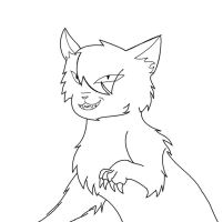 Evil cat lineart by emberstarfireclan