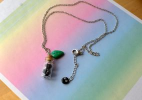 My Neighbor Totoro Inspired Necklace by ChloeeeeLynnee97