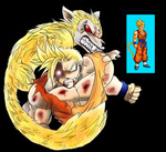 The golden wolf, yamcha ssj by 9TS