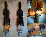 Skoll and Hati felt Bracelets by VoceDelBosco