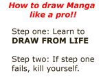 HOW TO DRAW MANGA LIKE A PRO by zeeoutlandishone
