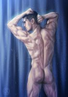Under the shower - commission by CristianoReina