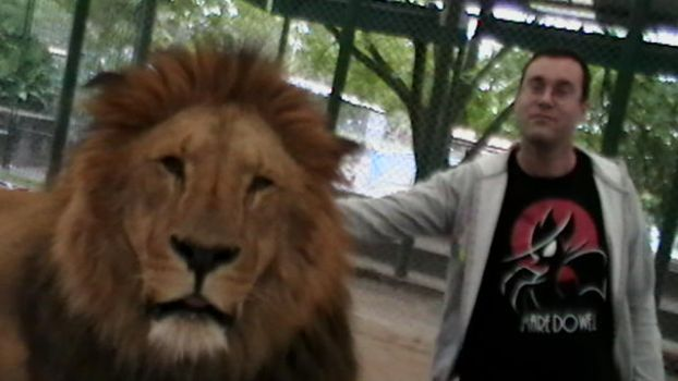Lion and me hanging out, chilling and stuff by Charlesdeleroy