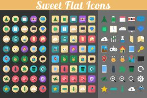 Sweet Flat Icons by OrientedDesign
