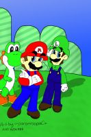 collab-super mario brothers by yoshi888