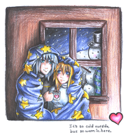 It's so cold outside... by Miina-san