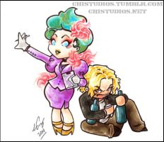 Effie and Haymitch by satsukei