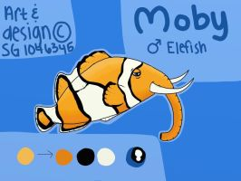 Moby the Elefish by wolfhailstorm