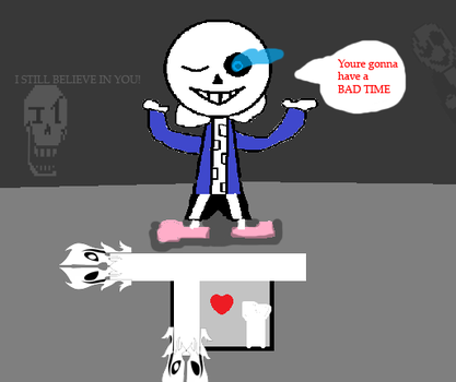 Sans battle (gaster blasters not draw) by papyrus-greatest