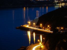 Waterfront by Night - Wellington NZ by MaxK-W