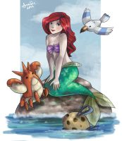 if ariel had pokemon.. by pixie-souls