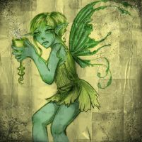 pixie with eggnog by Meeresniveau