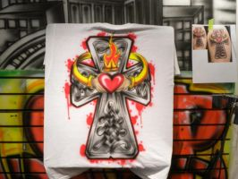 Tattoos turn into Airbrush..a lot by ButterflyStomper
