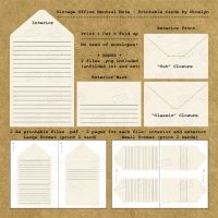 Vintage Office Neutral Note - Printable by Ninelyn