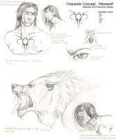 Character Concept - Werewolf by soulspoison