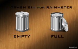 Trash Bin for Rainmeter by Paulo1471