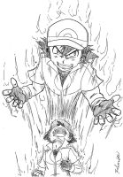 Pokemon XY Ash Possessed by Rohanite