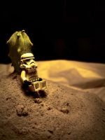 Lonely stormtrooper by Fruitmixer
