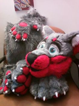 Lyc Wolf Partial Fursuit by ScardyKat