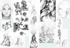 Sketches and WIPs . dump by Fessel