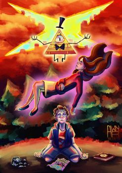 Dipper and Mabel vs future by AwyrGreen
