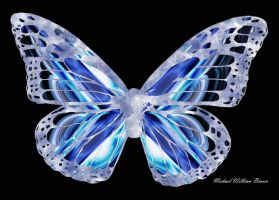 Blue Silkwing -My 100th- by FractalMBrown
