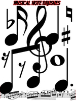 Musical Note Brushes by Aggr3ssi0n