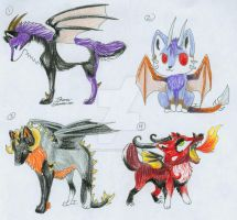 Dragon Wolf Adopts-CLOSD by itsmar-Adopts