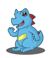 Soapy the Totodile by sodapoq