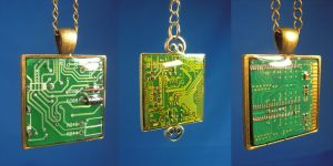 Circuit Board Pendants by Llyzabeth