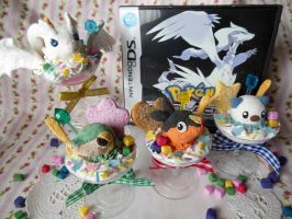 Pokemon BW Starter Sweets + Reshiram by KeoDear