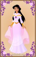 Jasmine wedding gown by monsterhighlover3