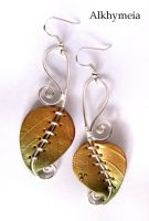Chlorophyll, the Earrings by Alkhymeia
