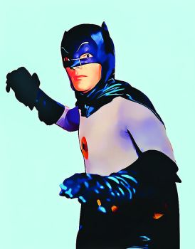 Adam West as Batman 1966 by appelt65
