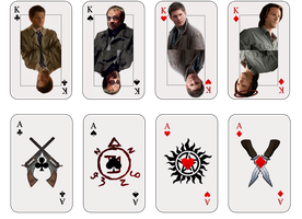 SPN Deck of Cards - Kings and Aces by SupremeEpicness