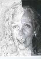a pointillistic semiportrait by living2prove