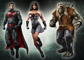 Injustice : Red Son DLC Characters by atomhawk