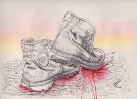 Marching On (Boulevard of broken Pencils) by frogXX