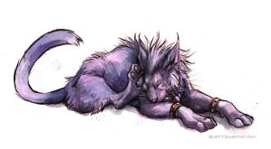 Night Elf Cat by kenket